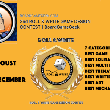 2nd ROLL & WRITE GAME DESIGN CONTEST