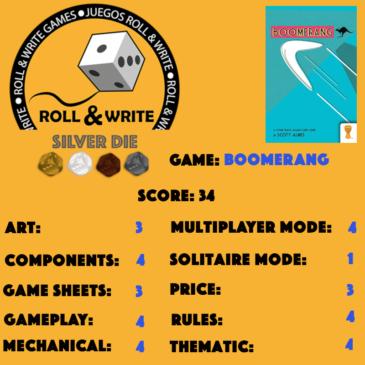 Sellos Juegos Roll & Write: Boomerang