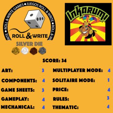 Sellos Juegos Roll & Write: Inkarumi