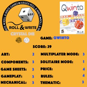 Sellos Juegos Roll & Write: Quinto