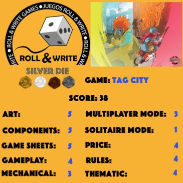 Sellos Juegos Roll & Write: Tag City