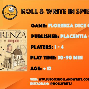 Spiel '19: Florenza Dice Game
