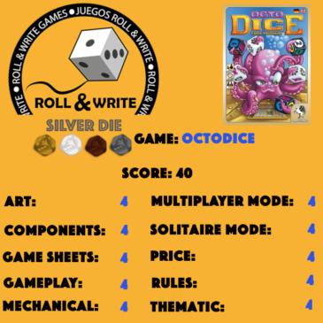 Sellos Juegos Roll & Write: OctoDice