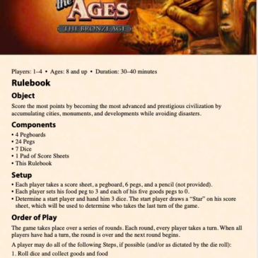 Reglas: Roll Through The Ages: The Bronze Age