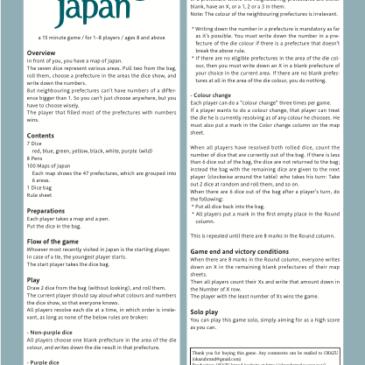 Reglas: Rolling Japan