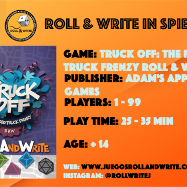 Spiel '19: Truck Off: The Food Truck Frenzy Roll and Write
