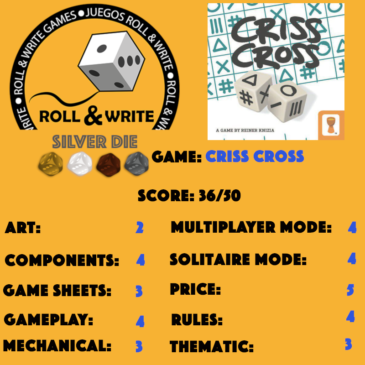 Sellos Juegos Roll & Write: Criss Cross