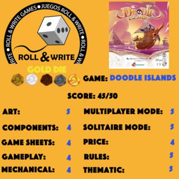 Sellos Juegos Roll & Write: Doodle Islands