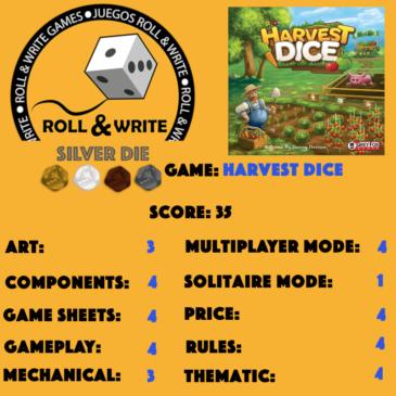 Sellos Juegos Roll & Write: Harvest Dice