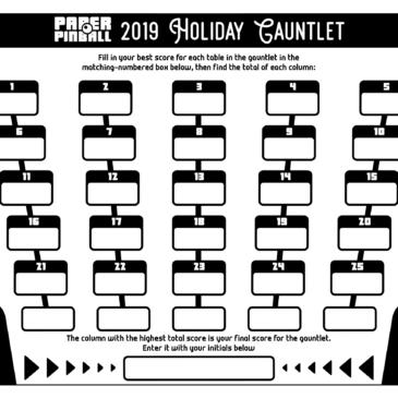 Novedades 2019: Paper Pinball Holiday Gauntlet