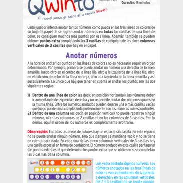 Reglas: Qwinto