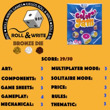 Sellos Juegos Roll & Write: Color' Yam