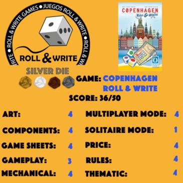Sellos Juegos Roll & Write: Copenhagen: Roll & Write