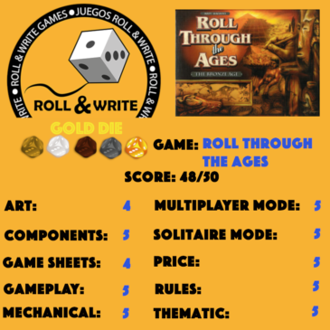 Sellos Juegos Roll & Write: Roll Through the Ages: The Bronze Age