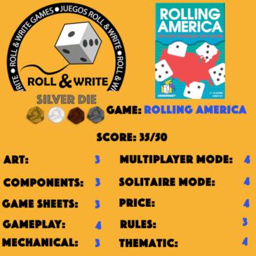 Sellos Juegos Roll & Write: Rolling America