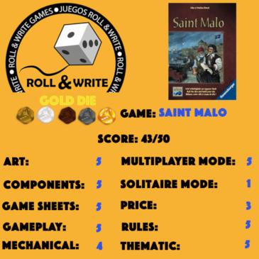 Sellos Juegos Roll & Write: Saint Malo