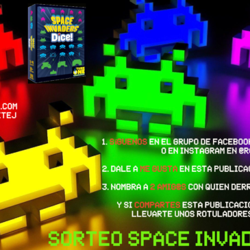Sorteo Space Invaders Dice!