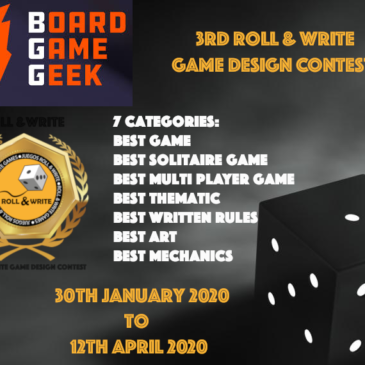 3rd ROLL & WRITE GAME DESIGN CONTEST BGG