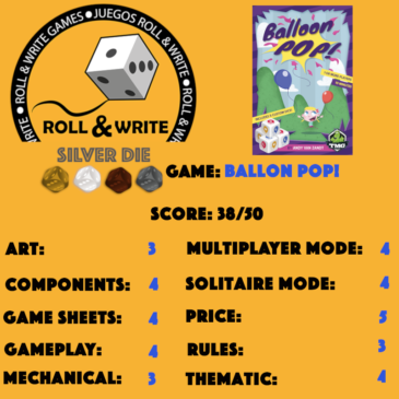 Sellos Juegos Roll & Write: Balloon Pop!