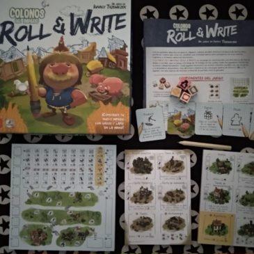 Hoy Jugamos a: Colonos del Imperio: Roll & Write