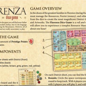 Reglas: Florenza Dice Game