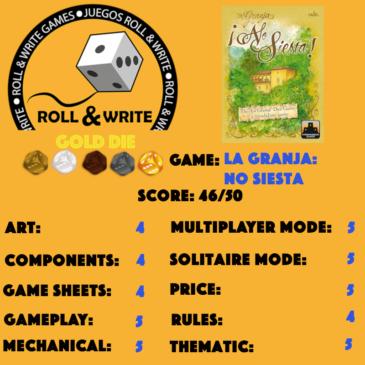Sellos Juegos Roll & Write: La Granja: No Siesta
