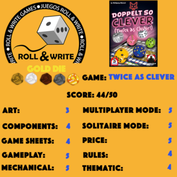 Sellos Juegos Roll & Write: Twice As Clever