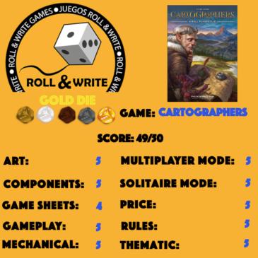 Sellos Juegos Roll & Write: Cartographers