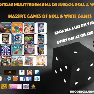 Partidas Multitudinarias de Juegos Roll & Write en la Cuarentena.