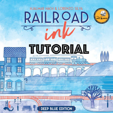 Videos: RailRoad Ink Azul Tutorial – Como Se Juega