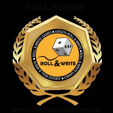 Premios del 3er Concurso de Diseño de Juegos Roll & Write de la BGG