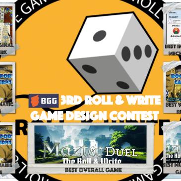 Resultados del 3er Concurso de Diseño de Juegos Roll & Write en la BGG