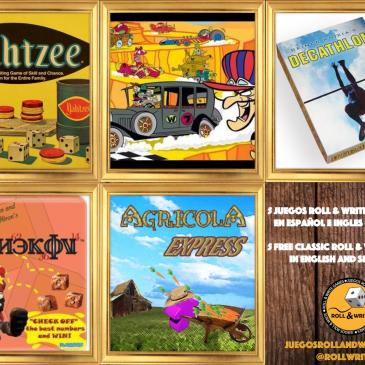 5 Juegos Roll & Write para imprimir Gratis en español e inglés 4a Parte