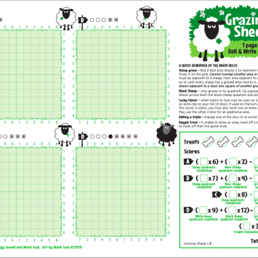 Print and Play: Grazing Sheep