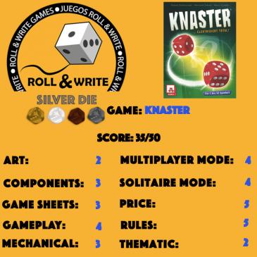 Sellos Juegos Roll & Write: Knaster