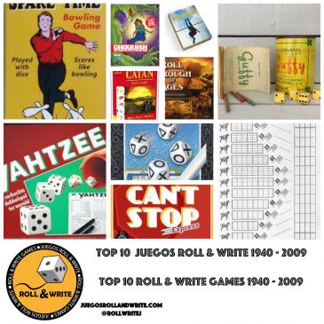 Top 10 Juegos Roll & Write Años 1940 al 2009