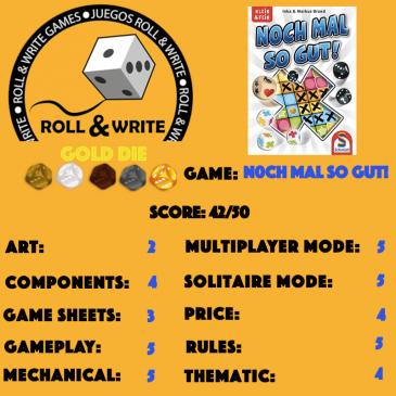 Sellos Juegos Roll & Write: Noch Mal So Gut!