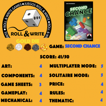 Sellos Juegos Roll & Write: Second Chance