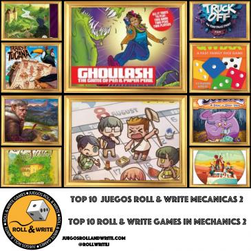 Top 10 Juegos Roll & Write con mejores Temáticas – Parte 2