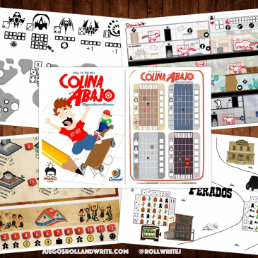5 Juegos Roll & Write para imprimir Gratis en español e inglés 11a Parte