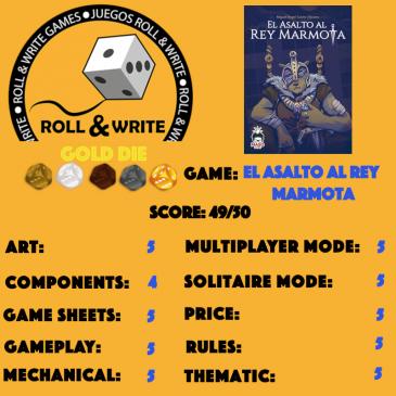 Sellos Juegos Roll & Write: El Asalto al Rey Marmota