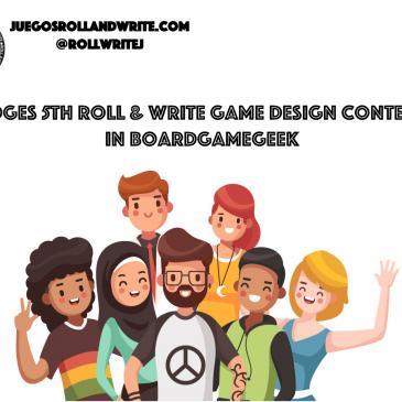 Novedades 2020: Jurado del 5º Concurso de Diseño de Juegos Roll & Write en la BGG