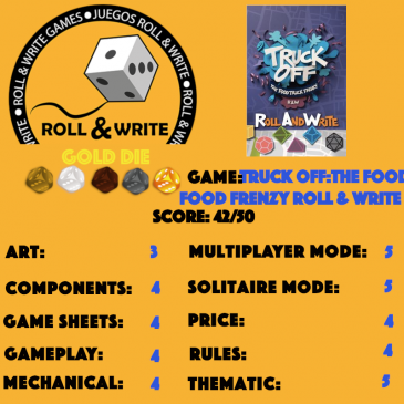 Sellos Juegos Roll & Write: Truck Off: The Food Truck Frenzy Roll And Write