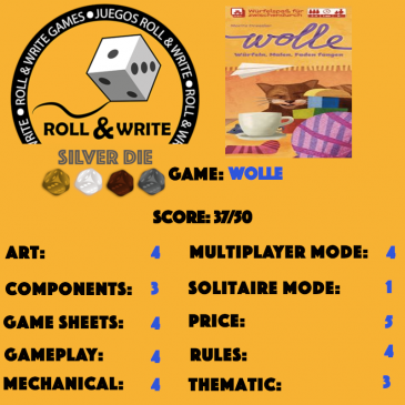 Sellos Juegos Roll & Write: Wolle