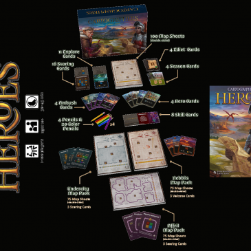 Kickstarter: Cartographers Heroes + 3 Map Pack Expansions