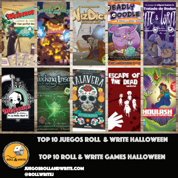 Top 10 Juegos Roll & Write con Temática de Halloween