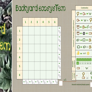 Print and Play: Backyard Ecosystem