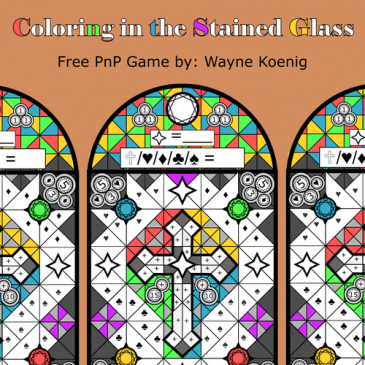 Print and Play: Coloring in the Stainglass
