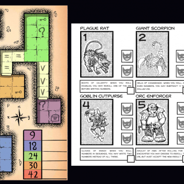Print and Play: Dungeons of Numera