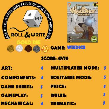 Sellos Juegos Roll & Write: WizDice